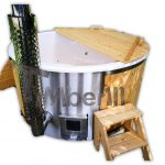 Vildmarksbad med indbygget ovn jacuzzi spa
