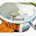 Vildmarksbad I Glasfiber Termotræ Med Integreret Ovn Wellness Royal TimberIN Main