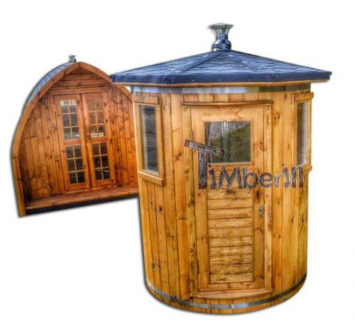 Udendørs lodret sauna til 2-4 personer