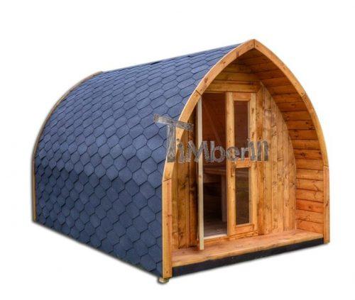 Udendørs camping hus i træ til haven Igloo design