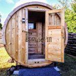 Udendørs Sauna Tønde I Træ Til Haven (1)