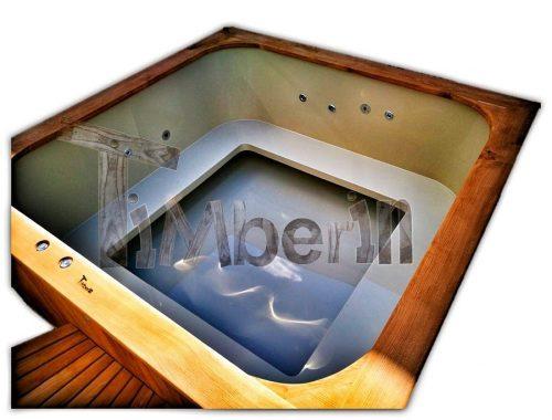 Vildmarksbad i Plast Rektangulær Micro pool deluxe