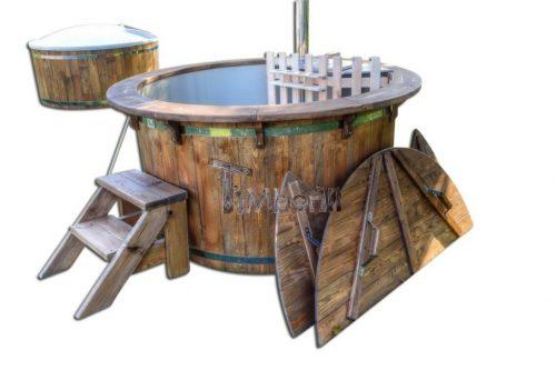Vildmarksbad i plast sibirisk gran, lærk vintage model