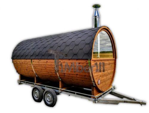 Udendørs Sauna På Traileren Mobil Harvia Ovn Med Omklædningsrum (39)