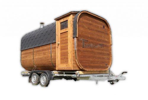 Mobil Rektangulær Udendørs Sauna På Hjul Trailer