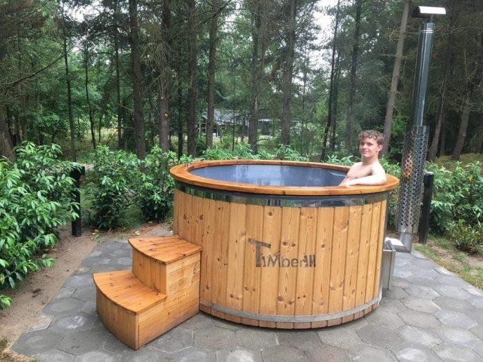 Udendørs Sauna Igloo Design Og Vildmarksbad Wellness Royal I Glasfiber Termotræ, Charlotte, Blåvand Denmark (2)