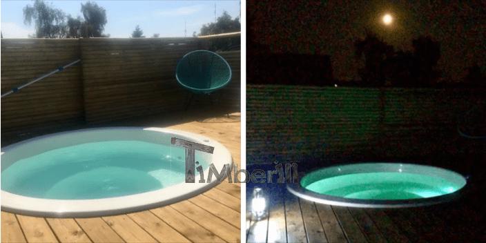 Vildmarksbad i Glasfiber Terrasse til indbygning Classic Hundested Danmark