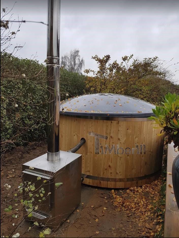 Vildmarksbad i glasfiber Termotræ med udvendig ovn Bjarke Østbirk Danmark 2