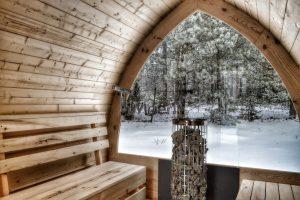 Sauna Tonde Med Glas