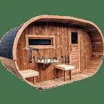 Udendørs Tønde Sauna Oval Design (1)