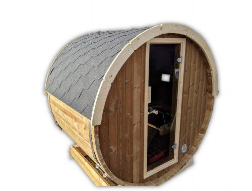 Udendørs Tønde Sauna Mini Lille 2 4 Personer (38)