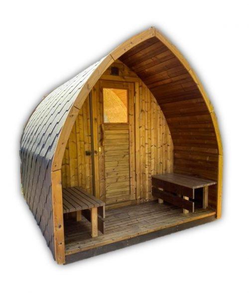 Udendørs Træ Sauna Pod Iglu Kit