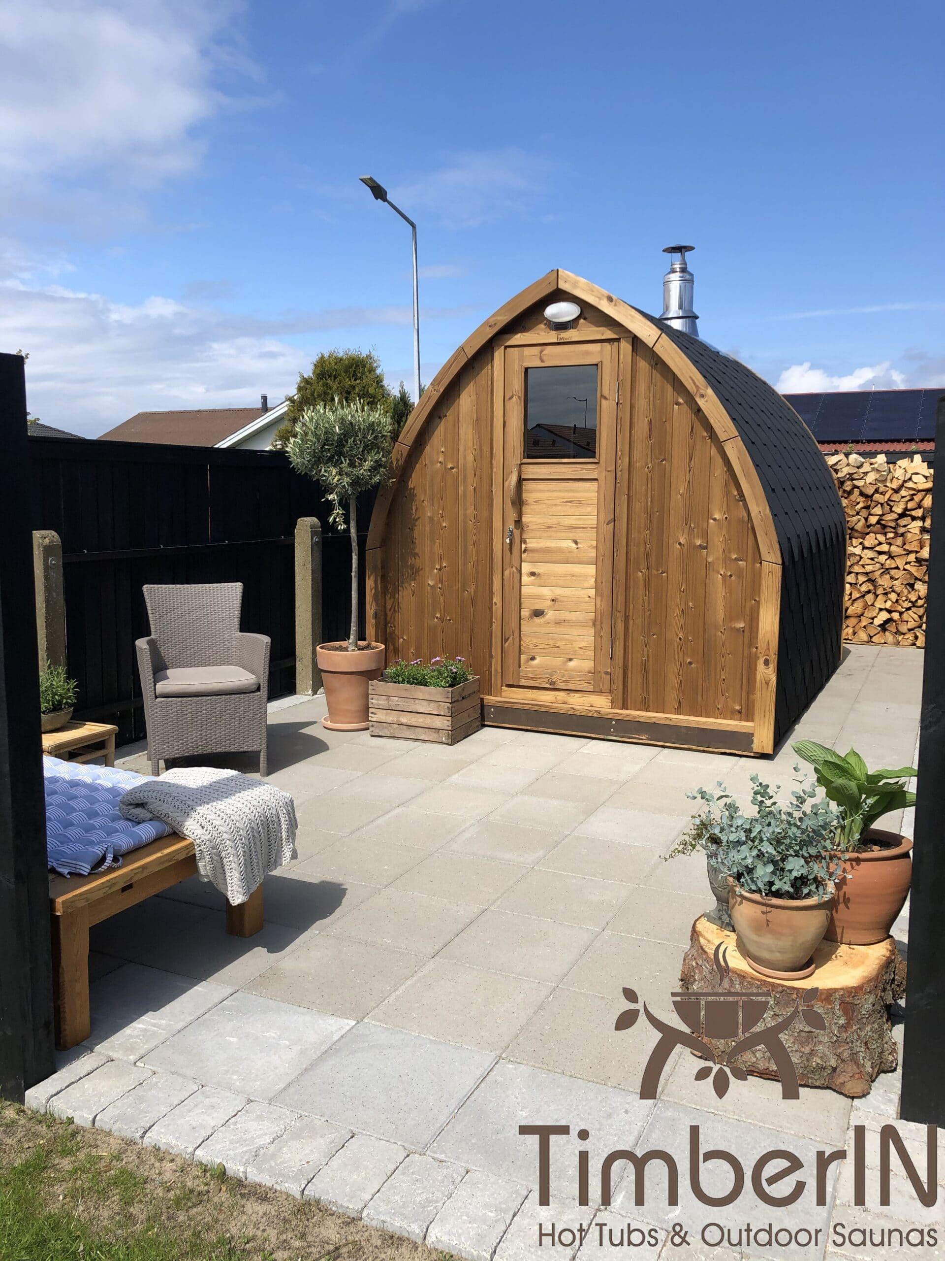 dendoers sauna i trae til haven Igloo design Rasmus Skagen Danmark 1 scaled