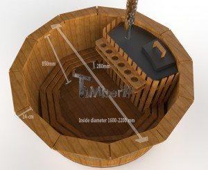 Udendørs spa varmebehandlet træ deluxe model til salg (2)