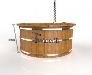 Udendørs spa varmebehandlet træ deluxe model til salg (3)