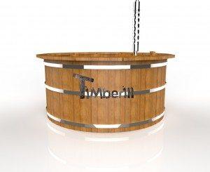 Udendørs spa varmebehandlet træ deluxe model til salg (5)