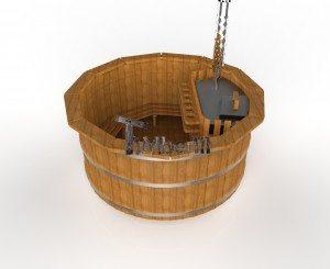 Udendørs spa varmebehandlet træ deluxe model til salg (7)