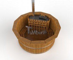 Udendørs spa varmebehandlet træ deluxe model til salg (9)