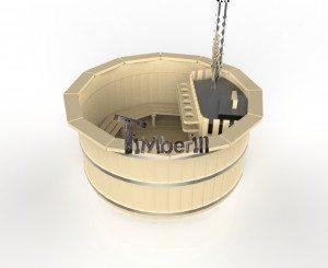 Vildmarksbad i træ deluxe model med indvendig eller udvendig ovn deluxe model (1)
