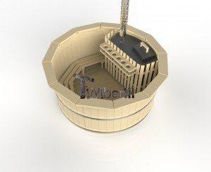 Vildmarksbad i træ deluxe model med indvendig eller udvendig ovn deluxe model (2)