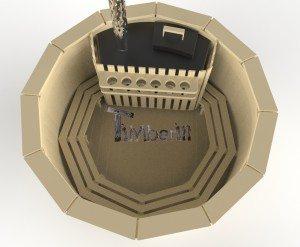 Vildmarksbad i træ deluxe model med indvendig eller udvendig ovn deluxe model (3)