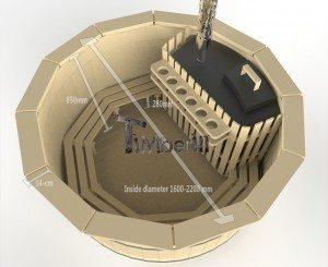 Vildmarksbad i træ deluxe model med indvendig eller udvendig ovn deluxe model (6)